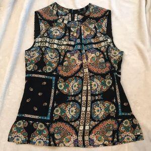 Nanette Lepore Floral Silk Sleeveless Top Shirt 8